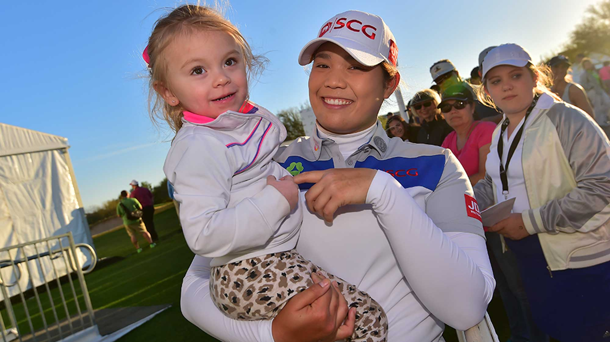 Ariya Jutanugarn and a Young Fan at Founders Cup