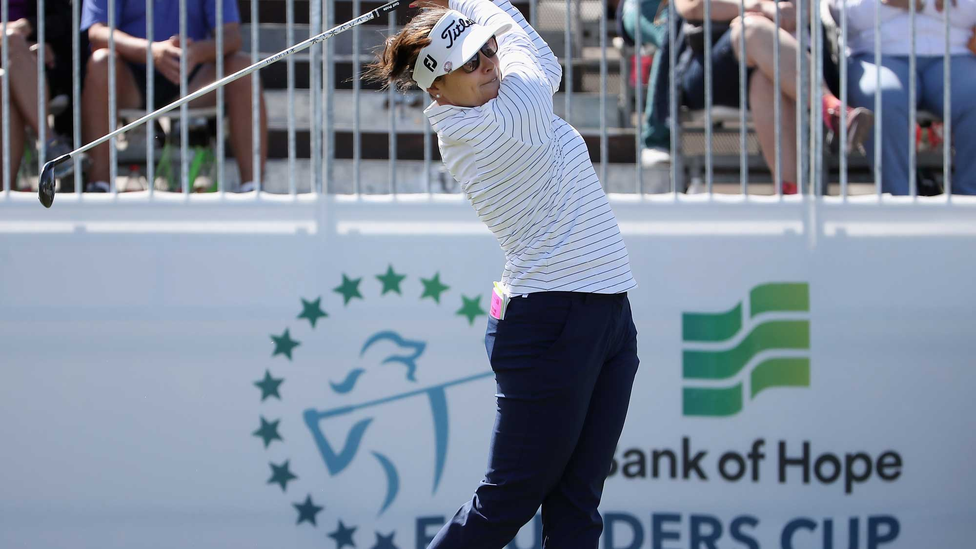 Mariajo Uribe Tees Off Sunday at the Founders Cup