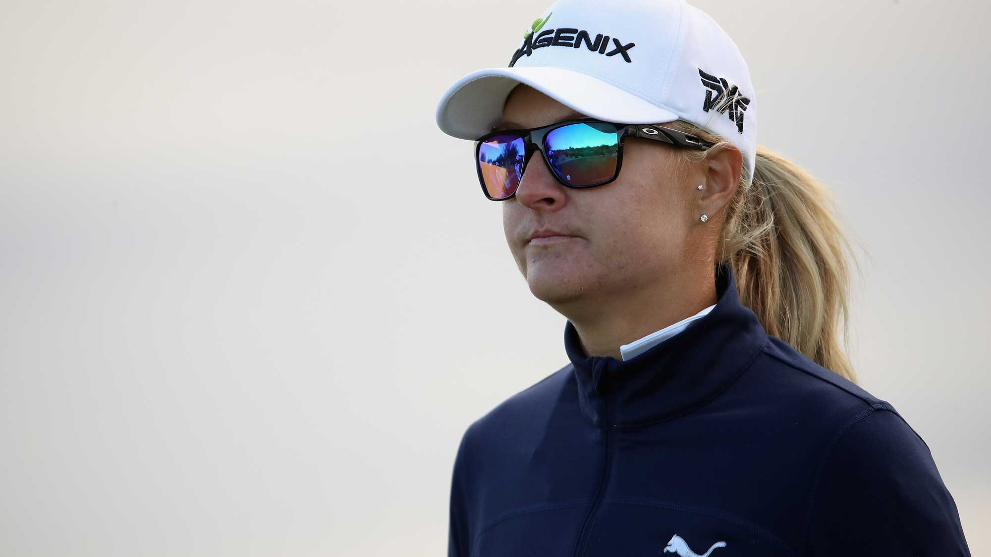 Defending Champ Anna Nordqvist Looks on at Founders Cup