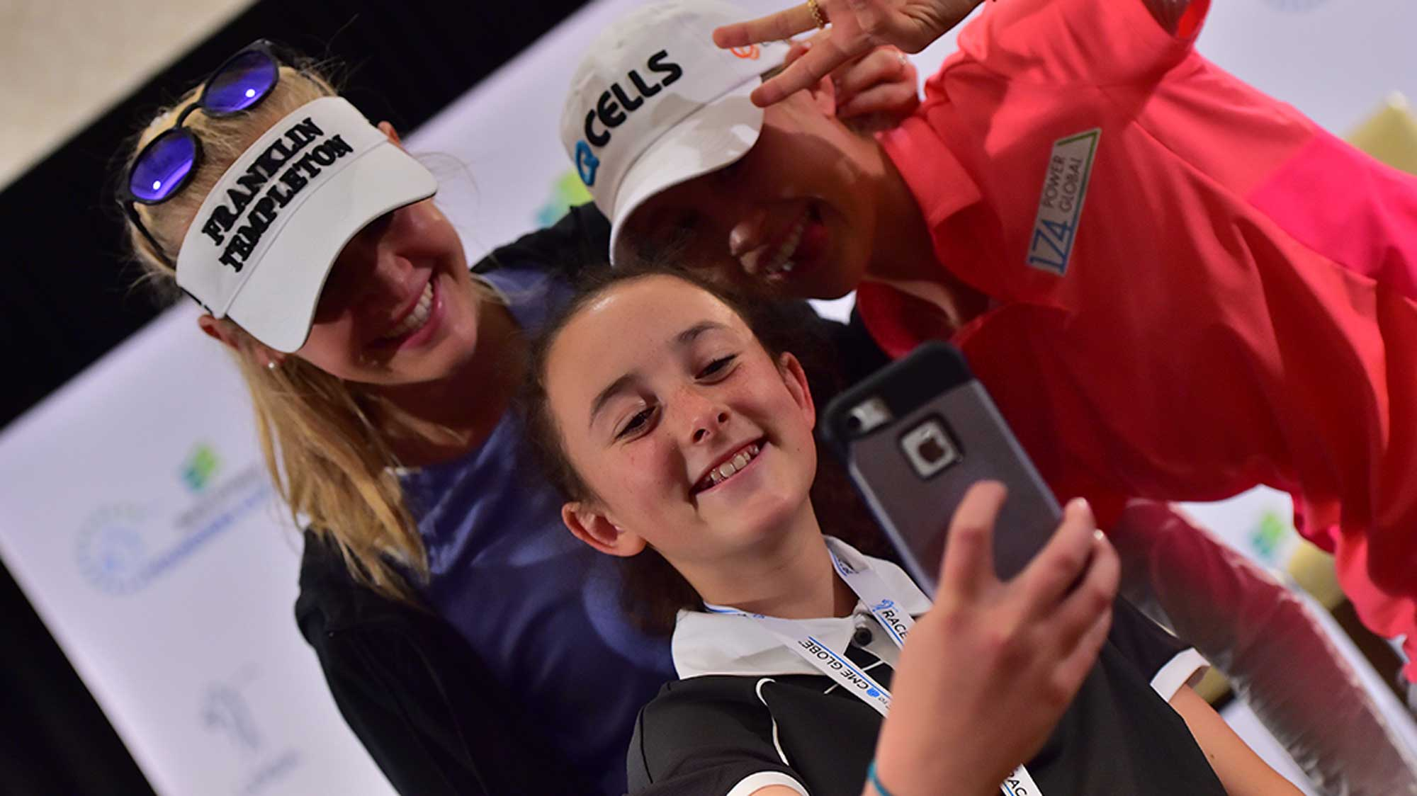 Future LPGA Pro Hannah Snaps a Pic with Jessica and Nelly Korda