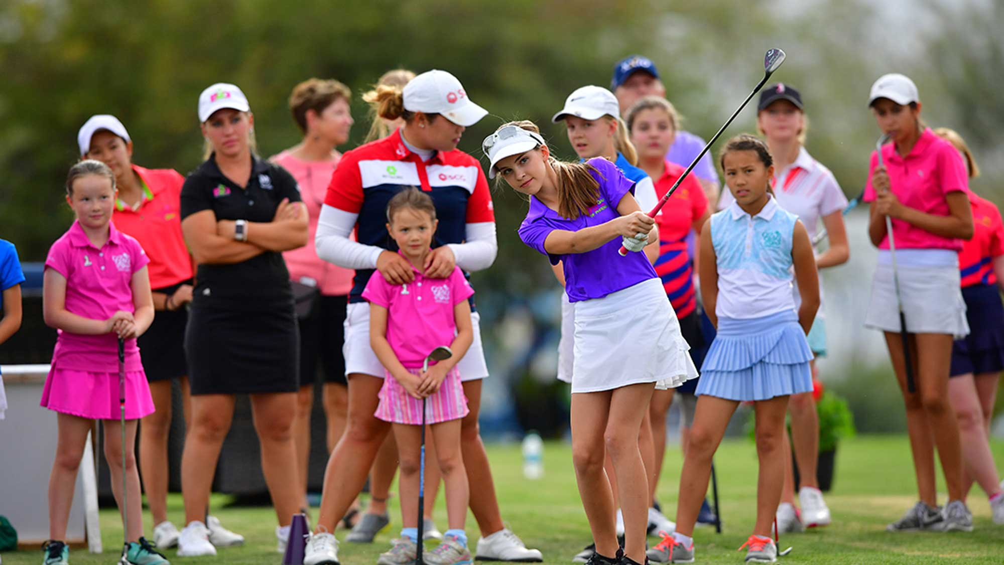Junior Clinic at the Bank of Hope Founders Cup