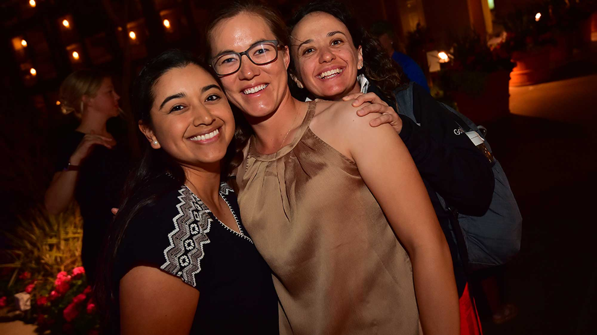 Lee Lopez, Vicky Hurst and Mo Martin at Founders Cup Pro-Am Party