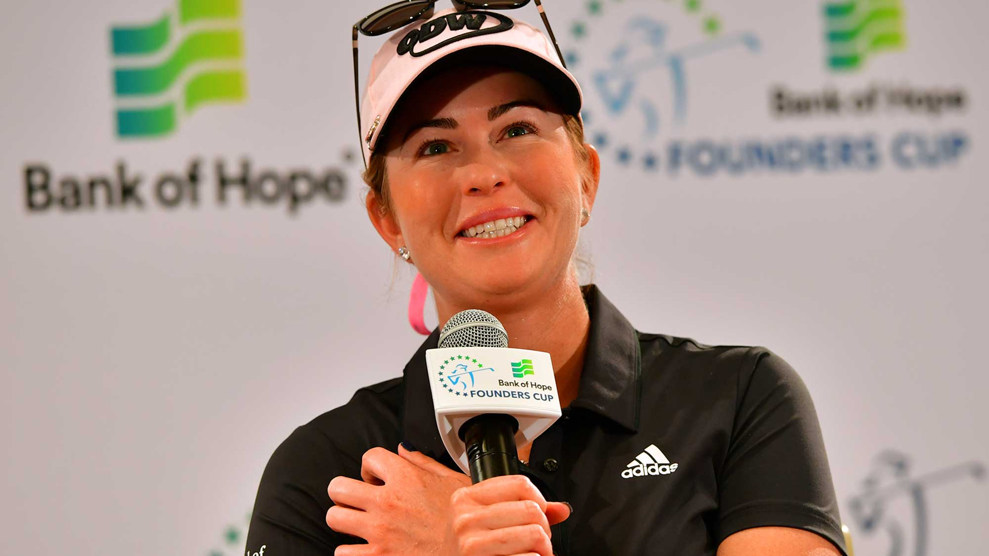 Paula Creamer All Smiles at Founders Cup Presser