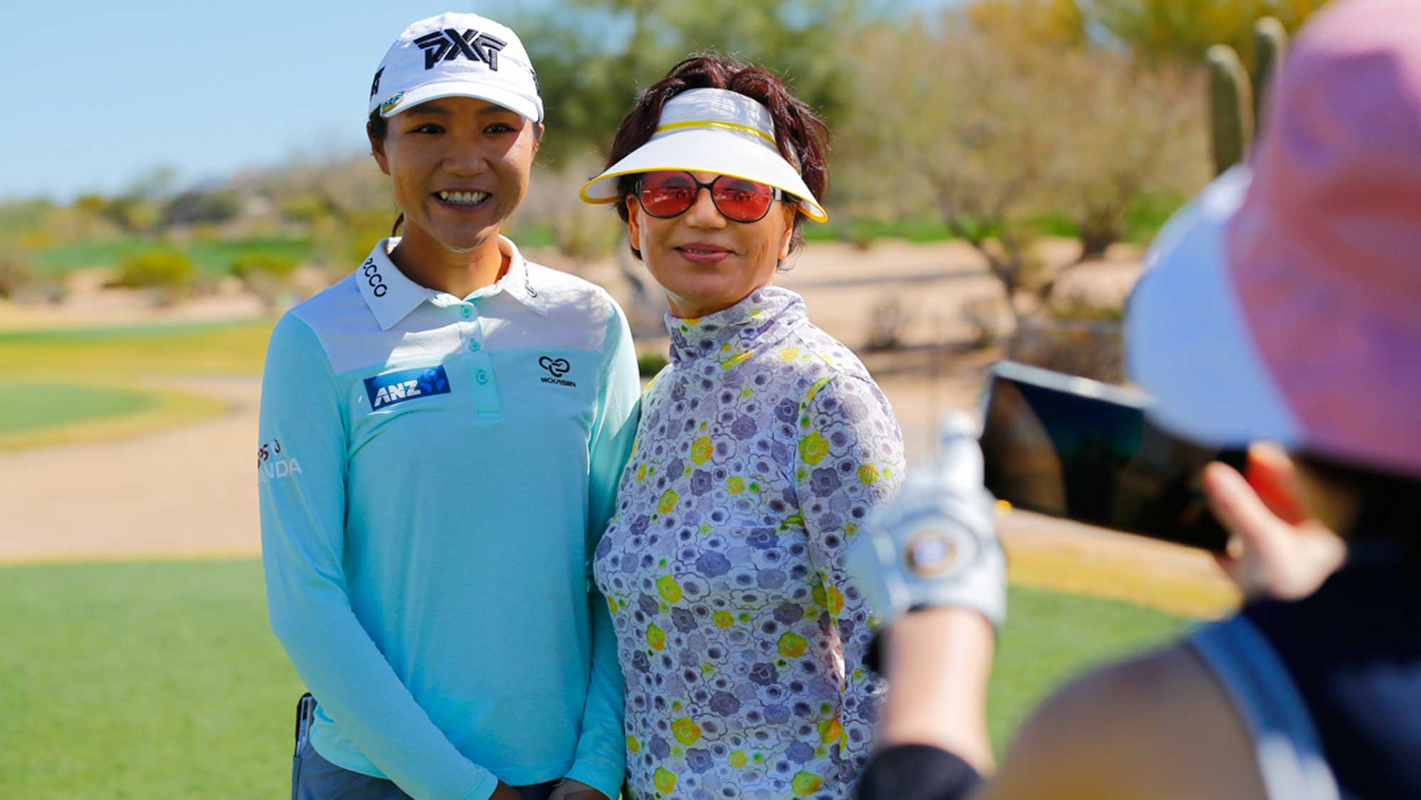 Lydia Ko Poses for a Photo at Bank of Hope Founders Cup