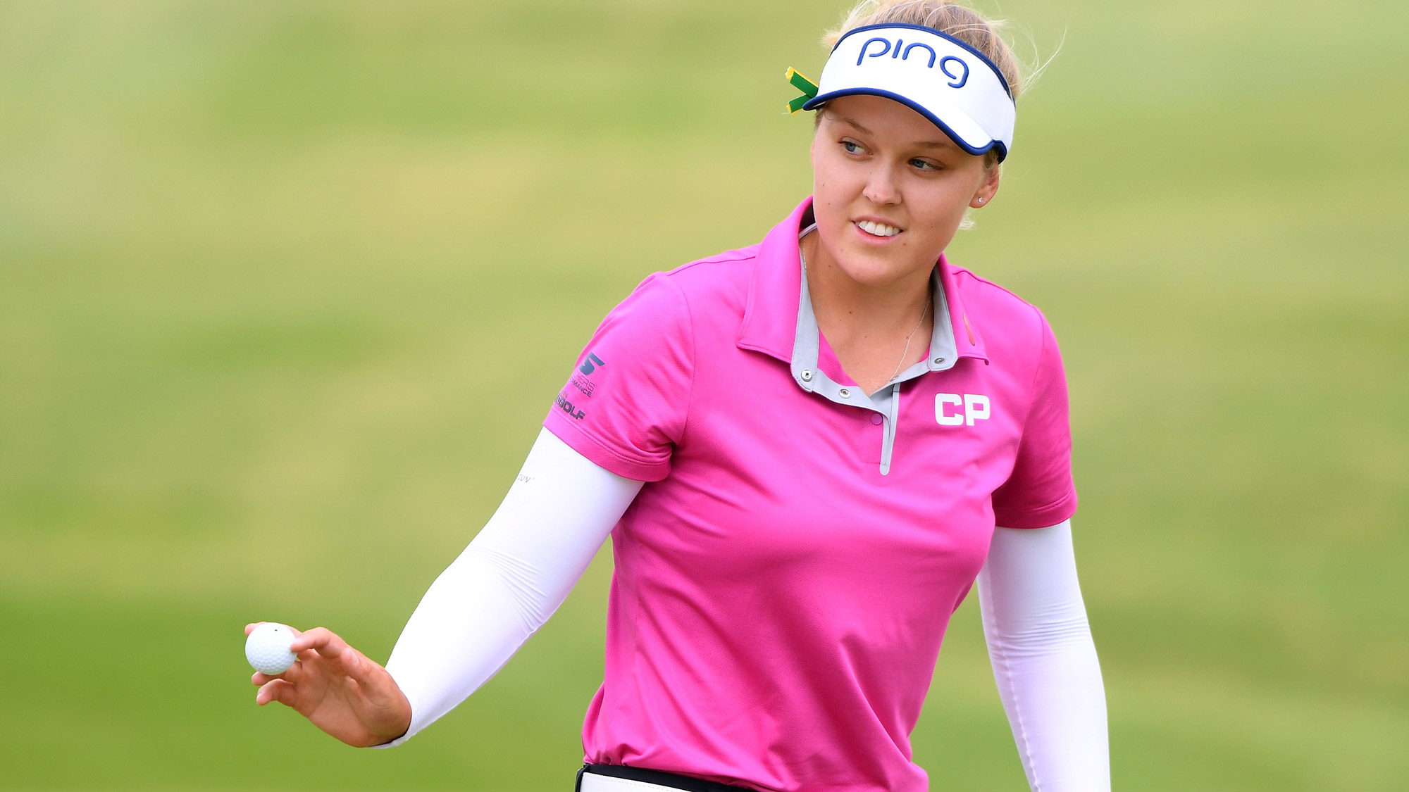 Brooke Henderson After on Birdie on Day Three in Hawaii