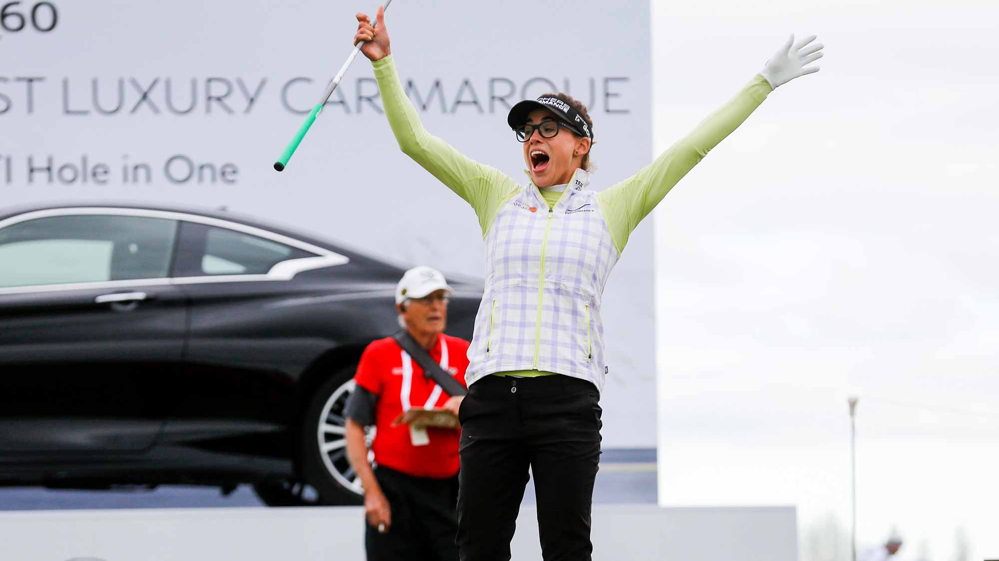 Belen Mozo Celebrates Hole In One During Second Round of the 2017 MCKAYSON New Zealand Women's Open