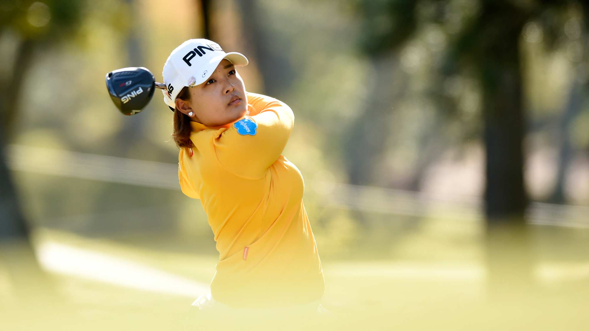 Ai Suzuki tees off at the 2019 TOTO Japan Classic