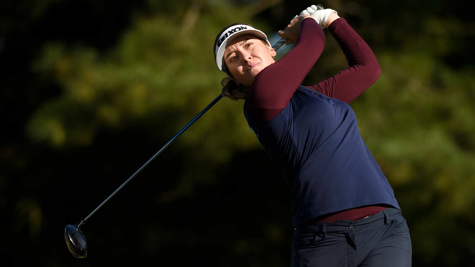 Hannah Green tees off at the TOTO Japan Classic