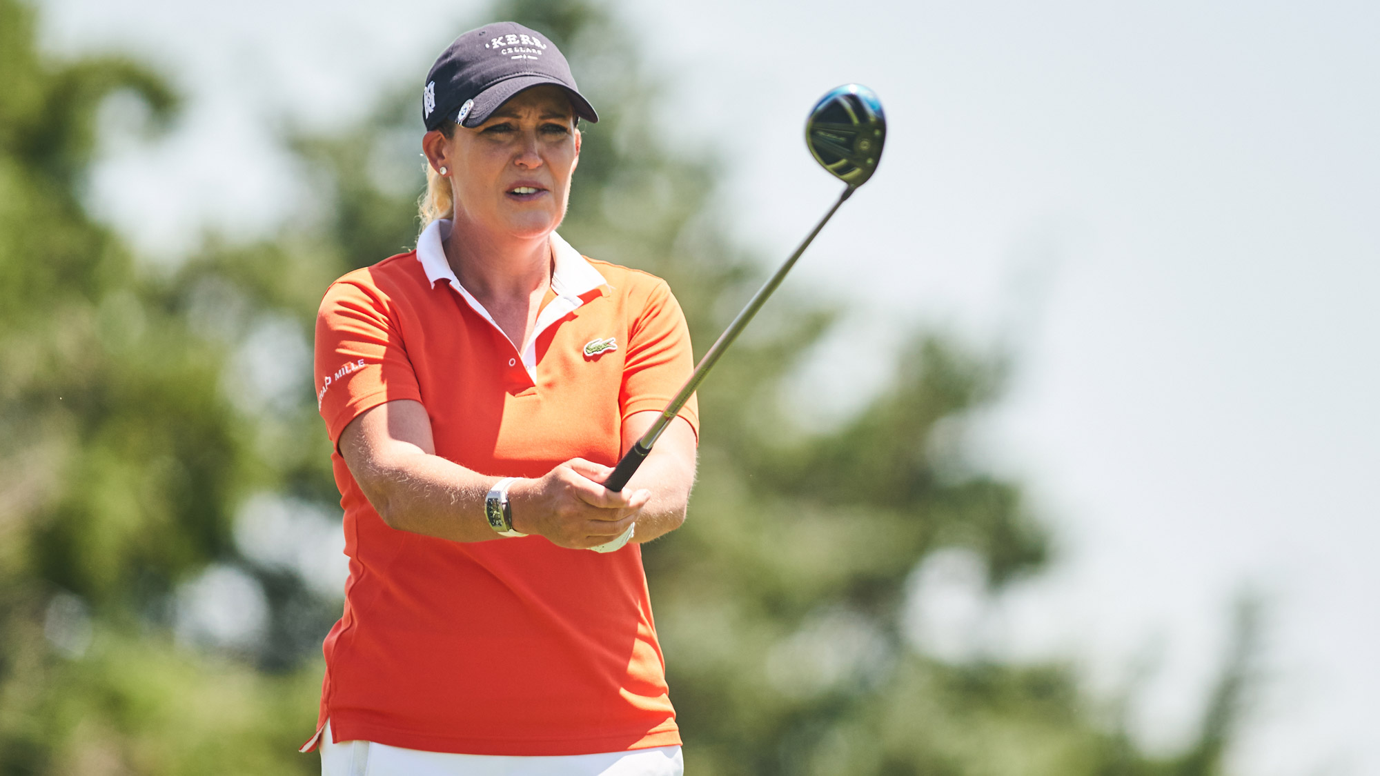 Cristie Kerr Eyes Her Tee Shot on Saturday at VOA LPGA Texas Classic