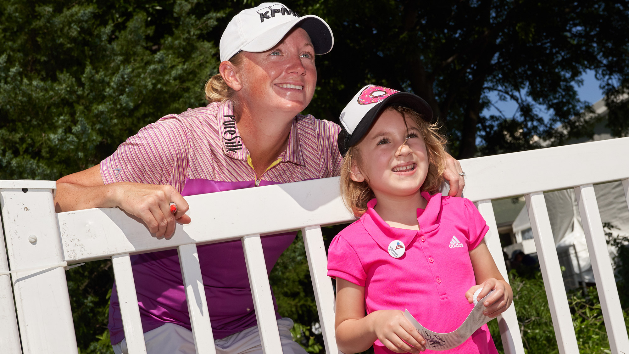 Stacy Lewis and a Young Fan at VOA LPGA Texas Classic