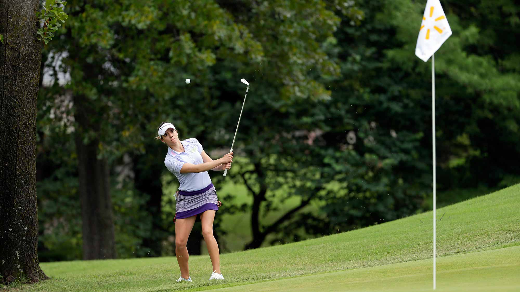 Gaby Lopez on the 12th hole during the first round of the Walmart NW Arkansas Championship Presented by P&G