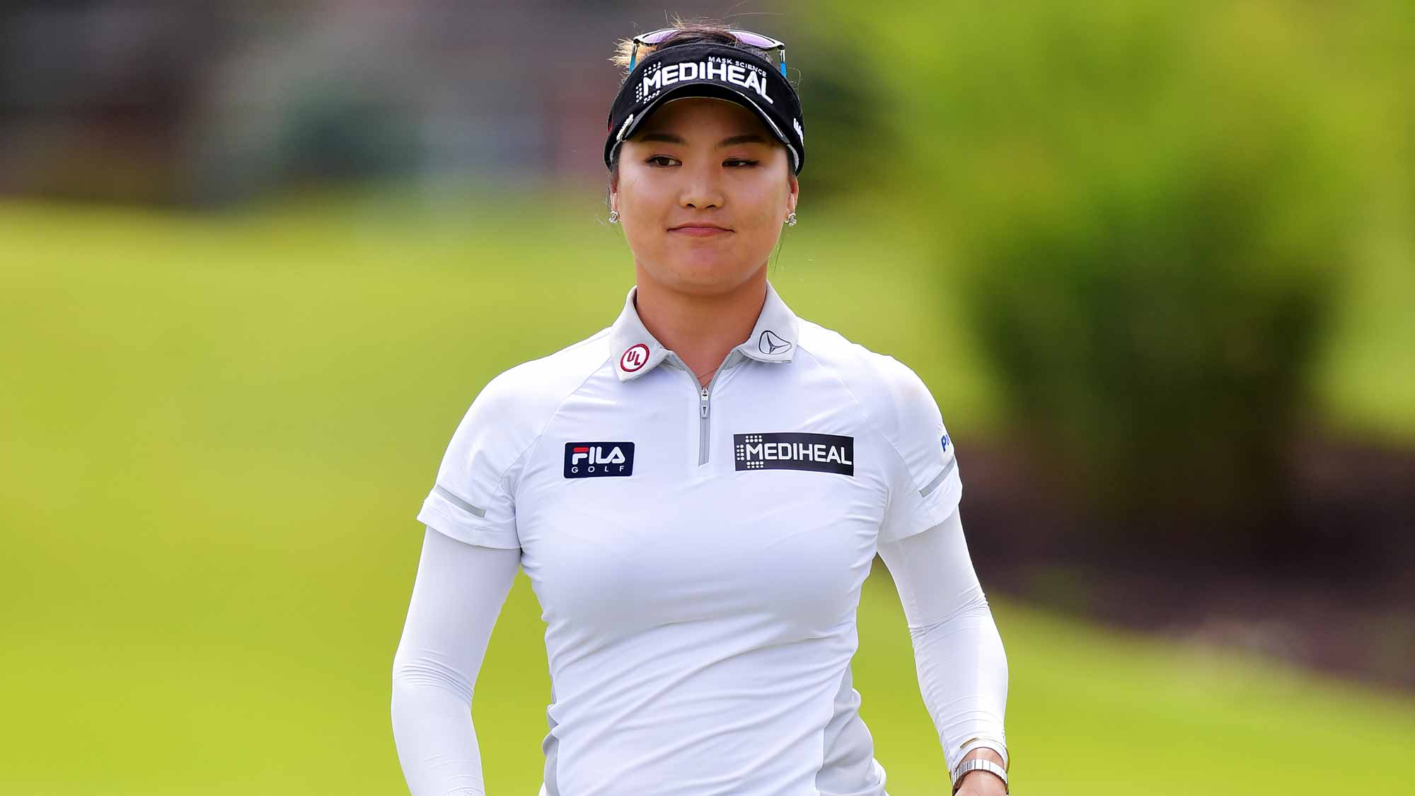 So Yeon Ryu of Korea walks off the green on the first hole after a birdie during the second round of the Walmart NW Arkansas Championship Presented by P&G